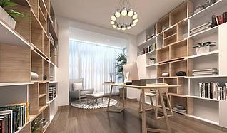 北欧风格书房模型3d模型