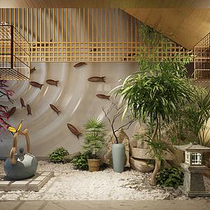 中式<font class='myIsRed'>园林</font>庭院整体模型