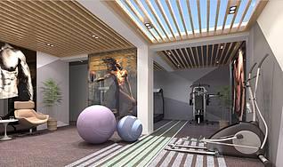 北欧风格健身房3d模型