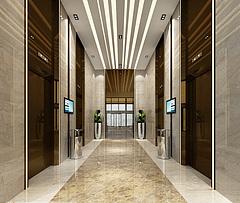 电梯间3D模型