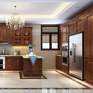 中式厨房整体模型
