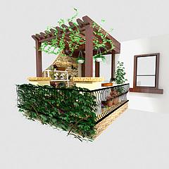 阳台3D模型