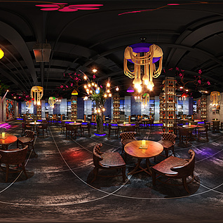 餐厅酒吧全景整体模型