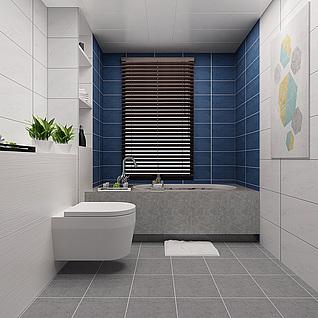 北欧浴室整体模型