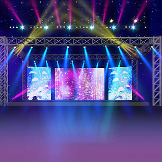 舞台设计整体模型