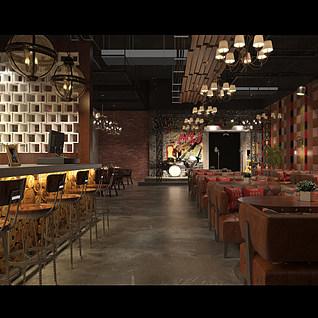 k歌咖啡厅整体模型