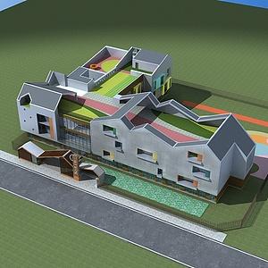 現代幼兒園整體模型