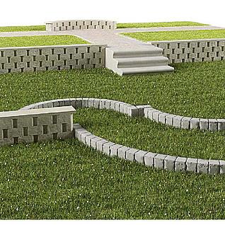 园林景观整体模型