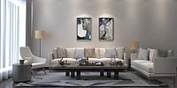 高端别墅客厅沙发组合3d模型