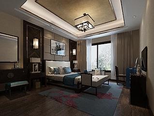一体化主卧室3d模型
