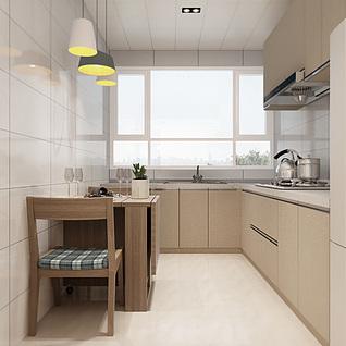 现代厨房模型3d模型