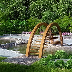<font class='myIsRed'>园林</font>别墅公园小院子景整体模型