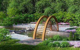 園林別墅公園小院子景3d模型
