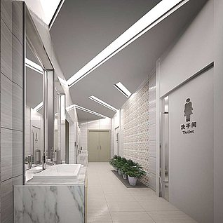 卫生间洗手台整体模型