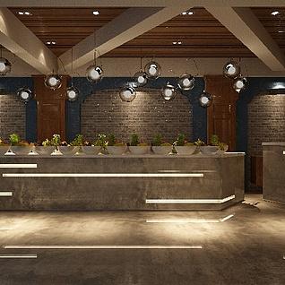 酒吧前台整体模型