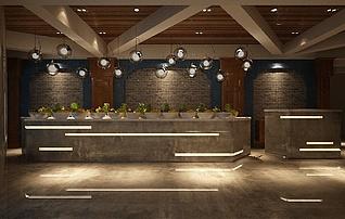 酒吧前台3d模型