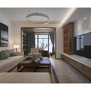 新中客廳3d模型