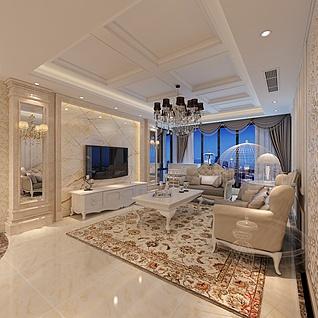 温馨客厅3d模型