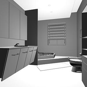 衛生間3d模型