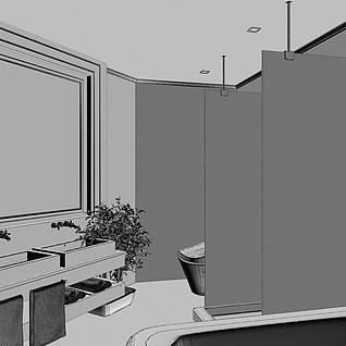 卫生间3d模型