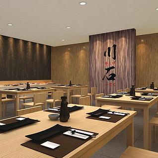 日式餐厅整体模型