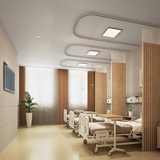 现代医院病房整体模型