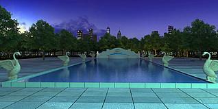 公园景观3d模型