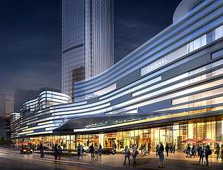 建筑规划鸟瞰透视3D模型3d模型