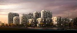 中高层居民建筑整体模型