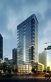 高层办公楼整体模型