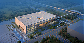 大型公共建筑整体模型