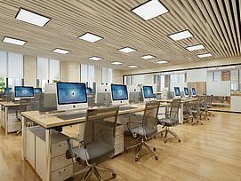 前台办公室会议室整体模型