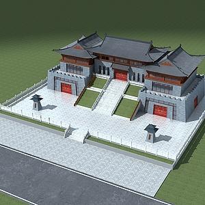 古建门楼整体模型