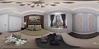 简美、客餐厅、书房、主次3d模型