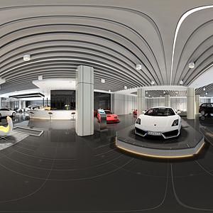 现代售车处全景模型模型3d模型