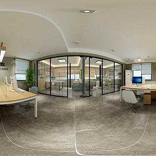 现代办公室全景整体模型