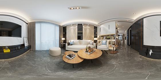 现代客厅全景模型3d模型