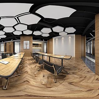 现代办公室全景模型整体模型