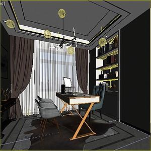 現在書房3d模型