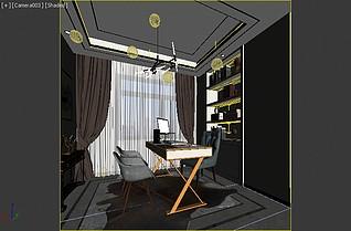 现在书房3d模型