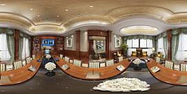 欧式会议室全景模型整体模型