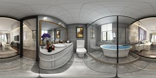 欧式卫生间全景模型3d模型