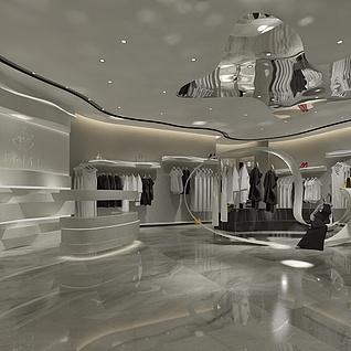 现代服装店整体模型