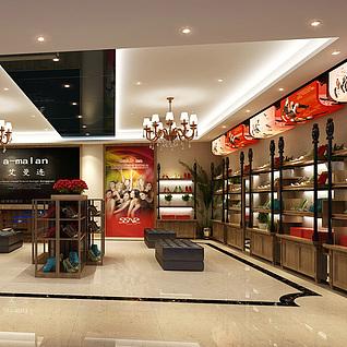 高跟鞋专卖店3d模型