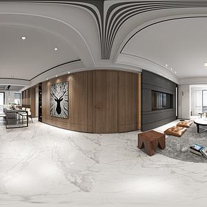 现代客餐厅全景模型模型3d模型