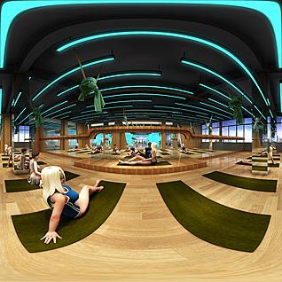 现代瑜伽房全景模型整体模型