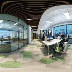 现代办公区全景模型整体模型