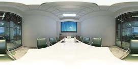 现代会议室全景模型整体模型