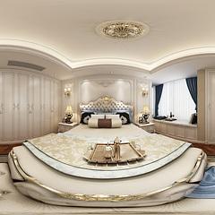 欧式卧室全景模型整体模型
