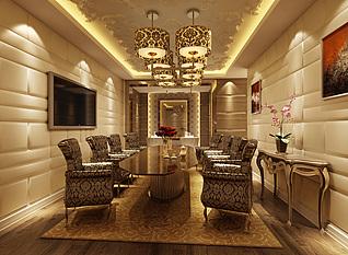 欧式餐厅模型3d模型